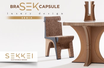 Sedia in cartone: la linea di luxury design Bra-Sek