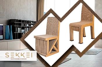 Mobili in cartone sekkei design sostenibile sedie in cartone - Mobili in cartone design ...